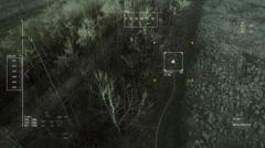 UAV tracking a fugitive, weak signal. Stock Footage