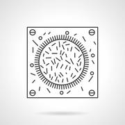 Bacteria icon flat line design vector icon Stock Illustration