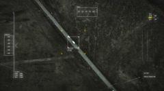 UAV chasing car at night, weak signal. Stock Footage