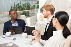 Business meeting in restaurant Kuvituskuvat