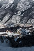 Olympic Ski resort, Krasnaya Polyana, Sochi, Russia Stock Photos
