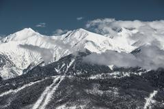 Olympic Ski resort, Krasnaya Polyana, Sochi, Russia - stock photo