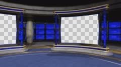 Studio 72 Angle A Circular Studio with Animated Screens Stock Footage