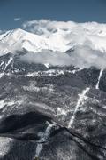 Olympic Ski resort, Krasnaya Polyana, Sochi, Russia - stock photo