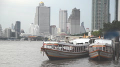 Express boat on river Stock Footage