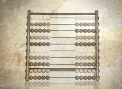 Vintage picture of an old abacus Stock Illustration