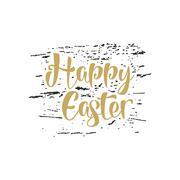 Easter lettering sign - Happy Easter. Easter wishes overlay, lettering label - stock illustration