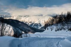 Olympic Ski resort, Krasnaya Polyana, Sochi, Russia Stock Photos