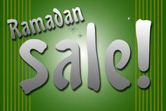 Ramadan Sale combine by sparkle star Stock Illustration