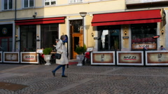 Stock Video Footage of There are a lot of cosy restaurants in Helsingborg