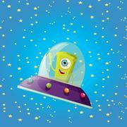 Stock Illustration of ufo. alien vector. flying saucer