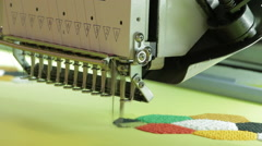Automated Embroidery Thread Machine On Factory. - stock footage