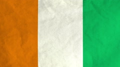 Ivorian flag waving in the wind (full frame footage) Stock Footage