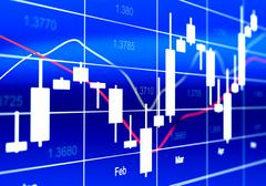 Commodity, Forex Trading Chart - stock illustration