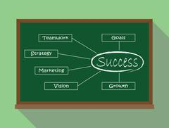 success key illustration green board teamwork strategy marketing vision growth - stock illustration