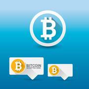Vector Bitcoin symbol. bitcoin icon Stock Illustration