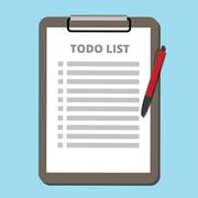 To do list concept tasklist with clipboard vector Stock Illustration
