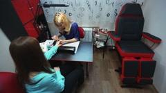 Stylish nail salon - stock footage