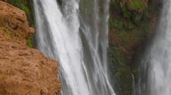 Ouzoud Waterfalls located in the Grand Atlas village of Tanaghmeilt, in the - stock footage