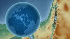 Stock Video Footage of Israel and Globe. Relief