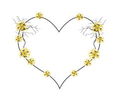 Stock Illustration of Yellow Flowers in A Beautiful Heart Shape