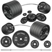 Stock Illustration of Shots of a metal barbells and weights