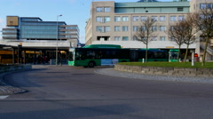 The bus terminal is a part of Helsingborg Central Station in Sweden Stock Footage