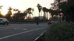 Sunset set on bridges leading to Cocoa Beach Florida Arkistovideo