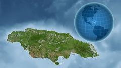 Jamaica and Globe. Satellite - stock footage