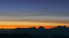 Footage Clouds Silhouette Mountain Orange Sky Beautiful Weather Fluffy Nature Stock Footage