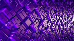 Abstract sci-fi image of rhombs pattern background with perspective - stock illustration