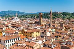 Florence city skyline , Italy Stock Photos