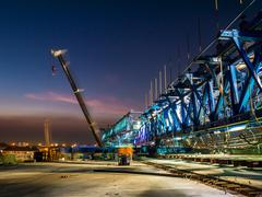 Stock Photo of Express way construction site at twilight
