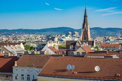 Vienna city skyline , Austria Stock Photos