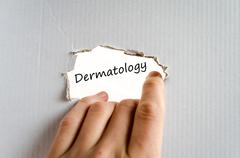 Dermatology text concept - stock photo