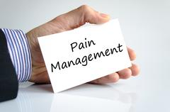 Stock Photo of Pain management text concept