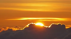 Footage Clouds Sun Covering Beautiful Weather Sky Orange Fluffy Nature Sunlight Stock Footage