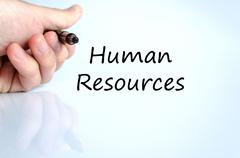 Stock Photo of Human resources text concept