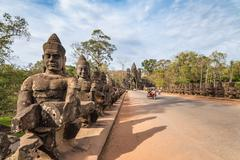 South gate of Angkor Thom , Siem Reap , Cambodia Stock Photos