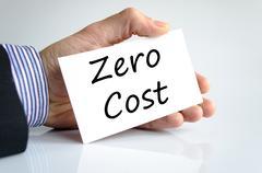 Zero cost text concept Stock Photos