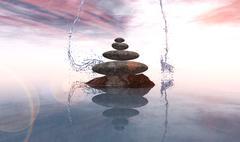Zen stones Stock Illustration