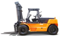 Forklift truck with yellow color Kuvituskuvat