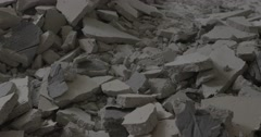 Destroyed floor tile in a house Stock Footage