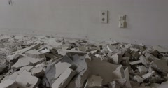 Destroyed floor in a house Stock Footage