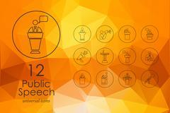 Stock Illustration of Set of public speech icons
