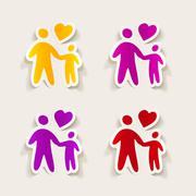 realistic design element: family - stock illustration