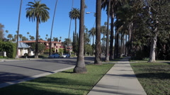 Walking in Residential Beverly Hills Stock Footage