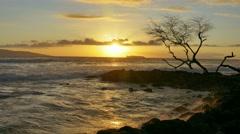 Idyllic Sunset Nature Seascape Scenery Beautiful Beach Travel Sky Island Stock Footage
