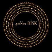 Abstract Golden Disk. Vector Illustration EPS 10 Stock Illustration