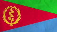 Eritrean flag waving in the wind (full frame footage) Stock Footage